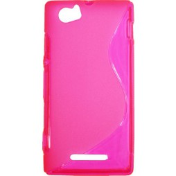 Sony Xperia M - Gumiran ovitek (TPU) - roza-prosojen SLine