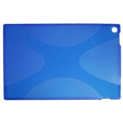 Sony Xperia Tablet Z - Gumiran ovitek (TPU) - modro-prosojen SLine