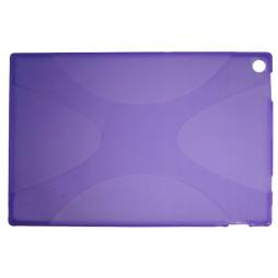 Sony Xperia Tablet Z - Gumiran ovitek (TPU) - vijolično-prosojen SLine