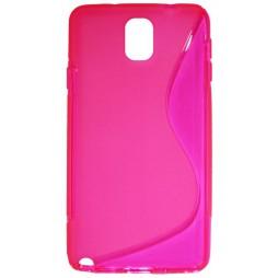Samsung Galaxy Note 3 - Gumiran ovitek (TPU) - roza-prosojen SLine