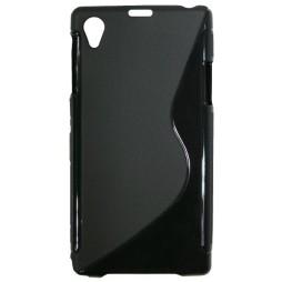 Sony Xperia Z1 - Gumiran ovitek (TPU) - črn SLine