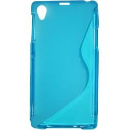 Sony Xperia Z1 - Gumiran ovitek (TPU) - modro-prosojen SLine