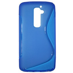 LG G2 - Gumiran ovitek (TPU) - modro-prosojen SLine