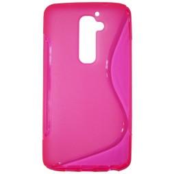 LG G2 - Gumiran ovitek (TPU) - roza-prosojen SLine