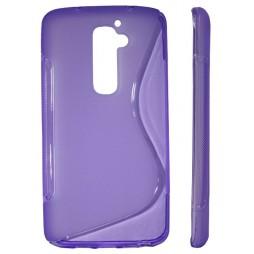 LG G2 - Gumiran ovitek (TPU) - vijolično-prosojen SLine