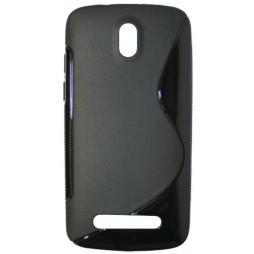 HTC Desire 500 - Gumiran ovitek (TPU) - črn SLine