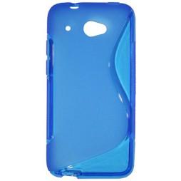 HTC Desire 601 - Gumiran ovitek (TPU) - modro-prosojen SLine