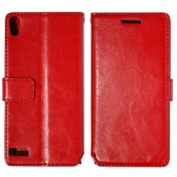 Huawei Ascend P6 - Preklopna torbica (WL) - rdeča