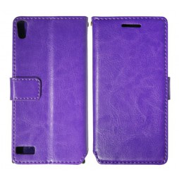 Huawei Ascend P6 - Preklopna torbica (WL) - vijolična