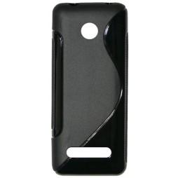Nokia 206 - Gumiran ovitek (TPU) - črn SLine