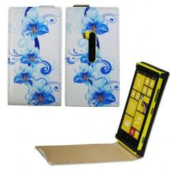 Nokia Lumia 920 - Preklopna torbica (40) - Blue flowers