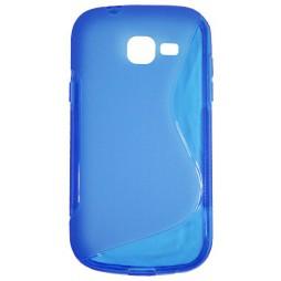 Samsung Galaxy Trend Lite - Gumiran ovitek (TPU) - modro-prosojen SLine