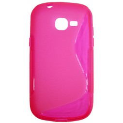 Samsung Galaxy Trend Lite - Gumiran ovitek (TPU) - roza-prosojen SLine