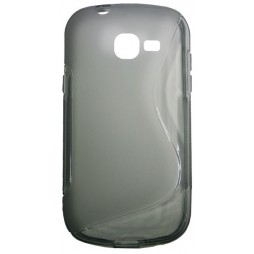 Samsung Galaxy Trend Lite - Gumiran ovitek (TPU) - sivo-prosojen SLine