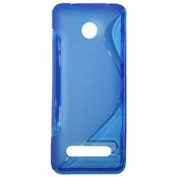 Nokia 206 - Gumiran ovitek (TPU) - modro-prosojen SLine