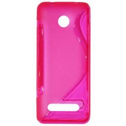 Nokia 206 - Gumiran ovitek (TPU) - roza-prosojen SLine