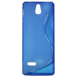 Nokia 515 - Gumiran ovitek (TPU) - modro-prosojen SLine