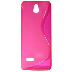 Nokia 515 - Gumiran ovitek (TPU) - roza-prosojen SLine