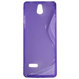 Nokia 515 - Gumiran ovitek (TPU) - vijolično-prosojen SLine