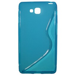 LG Optimus L9 II - Gumiran ovitek (TPU) - modro-prosojen SLine