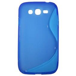 Samsung Galaxy Grand/Grand Neo - Gumiran ovitek (TPU) - modro-prosojen SLine
