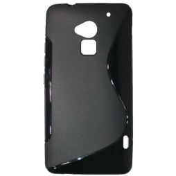 HTC One Max - Gumiran ovitek (TPU) - črn SLine