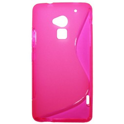 HTC One Max - Gumiran ovitek (TPU) - roza-prosojen SLine