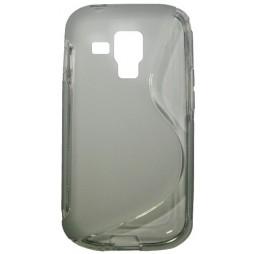 Samsung Galaxy Trend/S Duos - Gumiran ovitek (TPU) - sivo-prosojen SLine