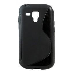 Samsung Galaxy Trend Pro/Plus/S Duos 2 - Gumiran ovitek (TPU) - črn SLine