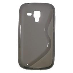 Samsung Galaxy Trend Pro/Plus/S Duos 2 - Gumiran ovitek (TPU) - sivo-prosojen SLine