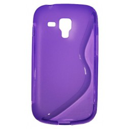 Samsung Galaxy Trend Pro/Plus/S Duos 2 - Gumiran ovitek (TPU) - vijolično-prosojen SLine