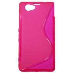 Sony Xperia Z1 Compact - Gumiran ovitek (TPU) - roza-prosojen SLine