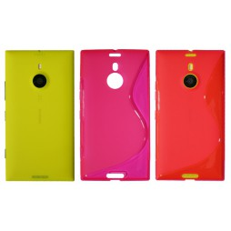 Nokia Lumia 1520 - Gumiran ovitek (TPU) - roza-prosojen SLine