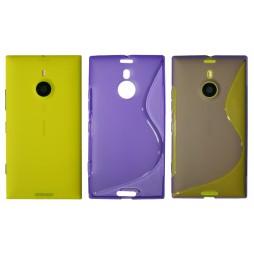 Nokia Lumia 1520 - Gumiran ovitek (TPU) - vijolično-prosojen SLine