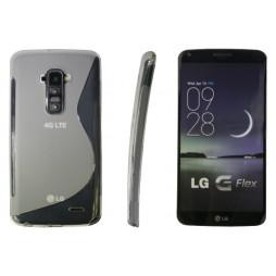 LG G Flex - Gumiran ovitek (TPU) - belo-prosojen SLine