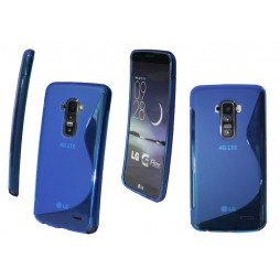 LG G Flex - Gumiran ovitek (TPU) - modro-prosojen SLine