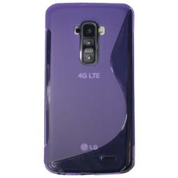 LG G Flex - Gumiran ovitek (TPU) - vijolično-prosojen SLine