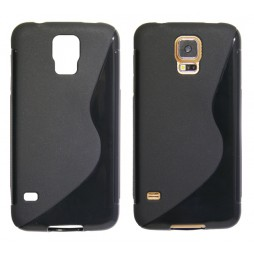 Samsung Galaxy S5/S5 Neo - Gumiran ovitek (TPU) - črn SLine