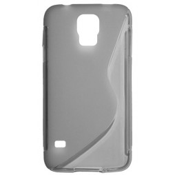 Samsung Galaxy S5/S5 Neo - Gumiran ovitek (TPU) - sivo-prosojen SLine