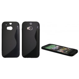 HTC One M8 - Gumiran ovitek (TPU) - črn SLine