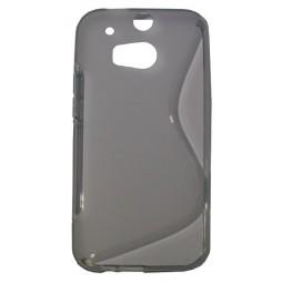 HTC One M8 - Gumiran ovitek (TPU) - sivp-prosojen SLine
