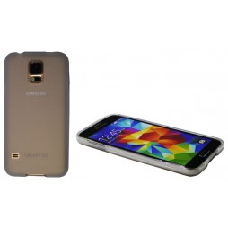 Samsung Galaxy S5/S5 Neo - Gumiran ovitek (TPU) - belo-prosojen mat