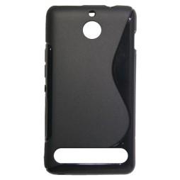 Sony Xperia E1 - Gumiran ovitek (TPU) - črn SLine