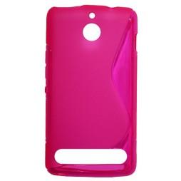 Sony Xperia E1 - Gumiran ovitek (TPU) - roza-prosojen SLine