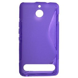 Sony Xperia E1 - Gumiran ovitek (TPU) - vijolično-prosojen SLine