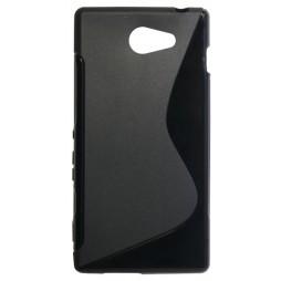 Sony Xperia M2 - Gumiran ovitek (TPU) - črn SLine
