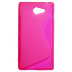 Sony Xperia M2 - Gumiran ovitek (TPU) - roza-prosojen SLine