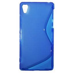Sony Xperia Z2 - Gumiran ovitek (TPU) - modro-prosojen SLine