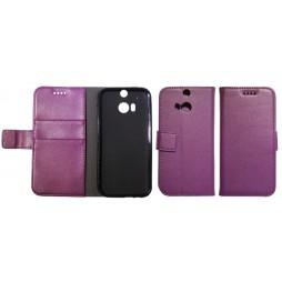 HTC One M8 - Preklopna torbica (WLG) - vijolična