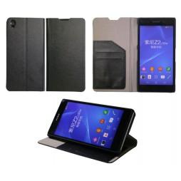 Sony Xperia Z2 - Preklopna torbica (HT) - črna